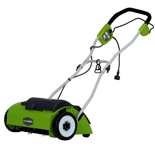 Greenworks 14 inch 10 Amps Corded Dethatcher, best lawn dethatcher, how to choose a lawn dethatcher, how to dethatch a lawn