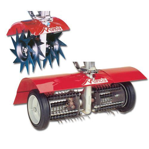 mantis 7321 power tiller lawn aerator and dethatcher combo attachment, best lawn dethatcher, dethatcher and aerator attachment for mantis power tiller